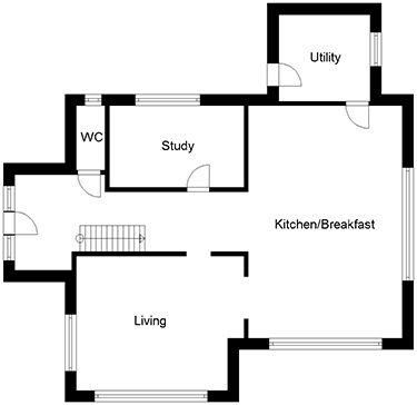 UK house plans for four bedroom minimalist eco home | 3 and 4 bed ...