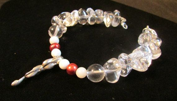 Holiday Icicle Bracelet surrounded by Quartz Snow by RobertaJune