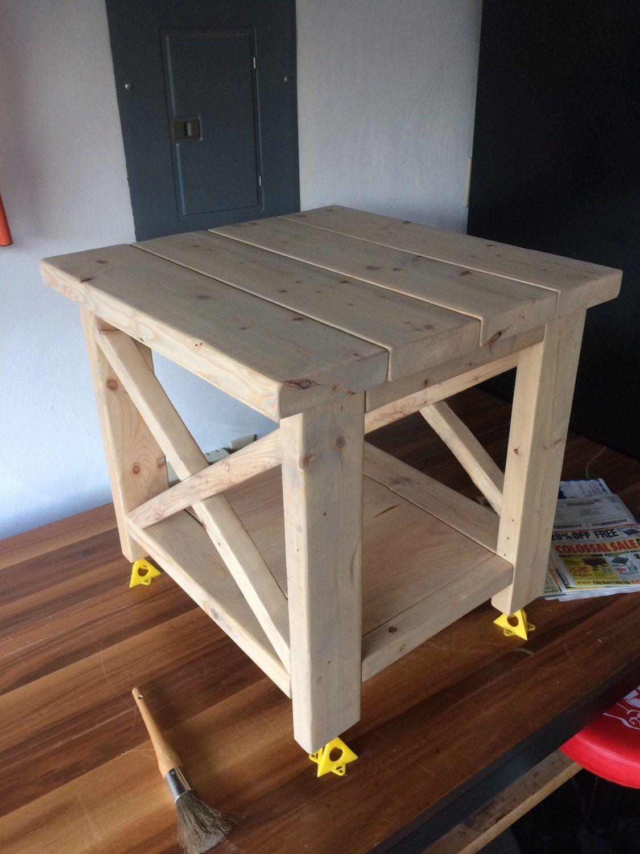 Rustic Farmhouse End Table in 2020 Farmhouse end tables