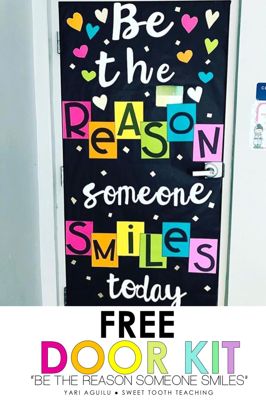 Free Classroom Door Decor Kit Door Decorations Classroom School Door Decorations Spring Classroom Door