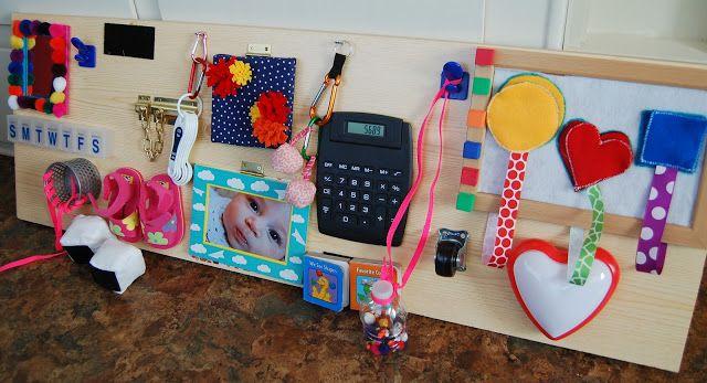 Away We Go: Activity Board   Baby toys diy, Activity board