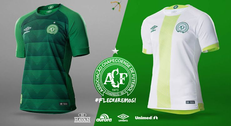 Chapecoense 2017-2018 Home   Away Kits Released - Footy Headlines ... 3b36b7b2d4485