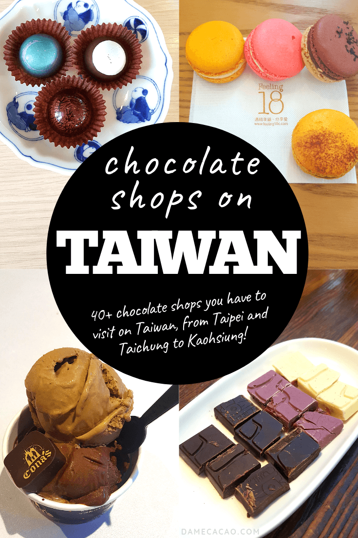 of the Best Chocolate Shops in Taiwan (Map Included) After exhaustive research, tasting, and touring, I've come up with the top 31 chocolate shops all across Taiwan. Wondering where to eat the best Taiwanese chocolate? Look no further. |After exhaustive research, tasting, and touring, I've come up with the top 31 chocolate shops all...