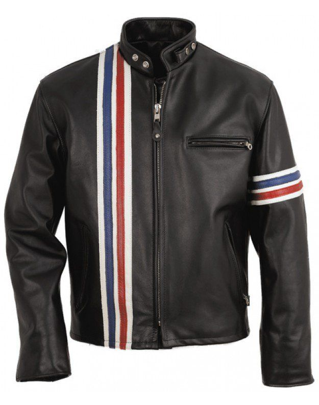 Easy Rider Leather Jacket The Easy Rider Jacket is a replica of the leather jacket worn in the movie Easy Rider by Peter Fonda in 1969. Since then, th