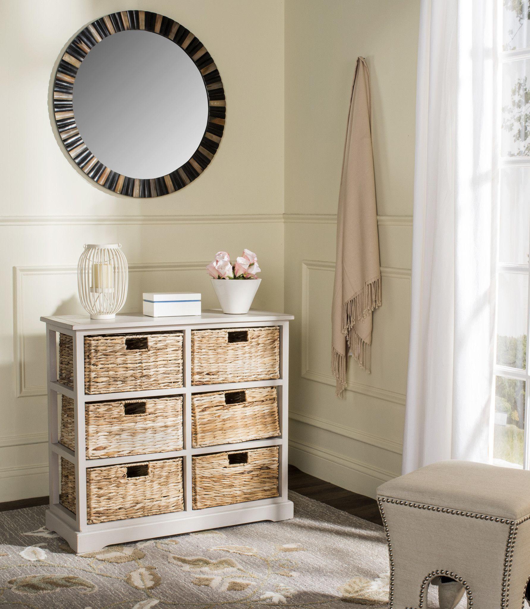 safavieh keenan 6 wicker basket storage chest | products