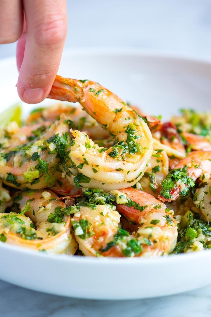 Photo of Garlic Butter Shrimp with Cilantro and Lime