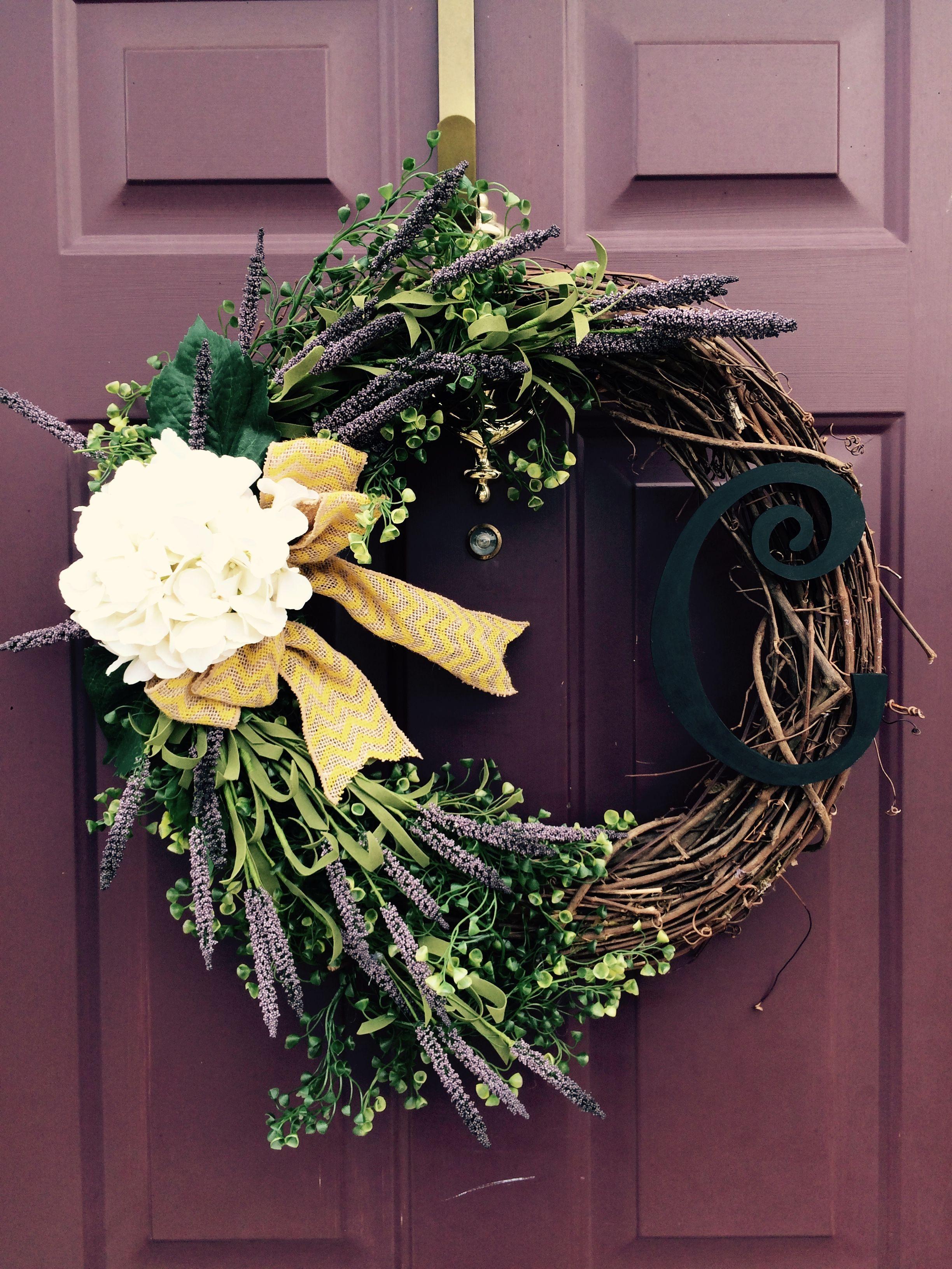 Spring Wreath, Initial, Burlap Diy