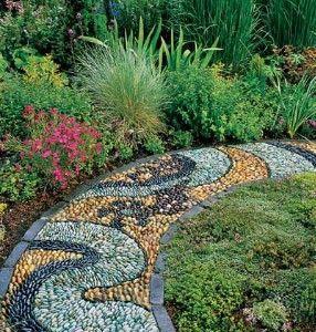 Colored Stone Garden Path