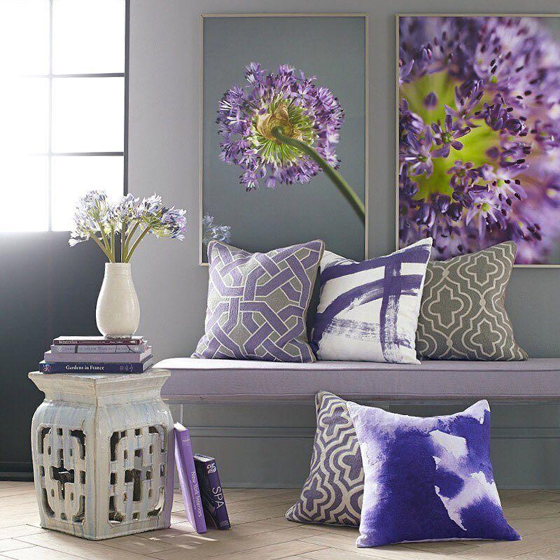 Pretty Pairings Lush Lavender Cool Stone Combine To Create A Sense Of Serenity