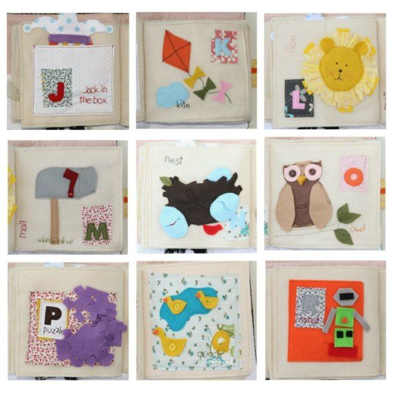 PATTERN for ABC Activity Book - all 26 letters - PDF Felt Books - letters in pdf