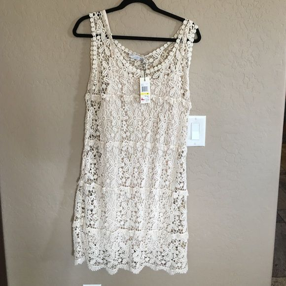 Medium solitaire dress! Cream color NWT! Solitaire Dresses Midi
