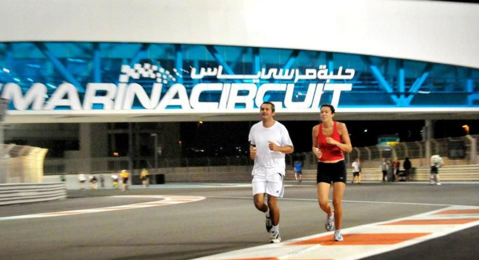Walk, run or cycle on the F™ track with Train Yas at Yas