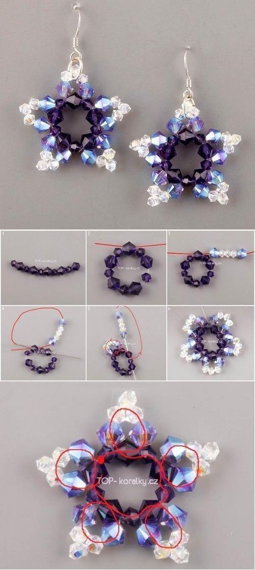 Diy Beads Star Earrings Jewelry Crafts Diy Beads Beading Patterns