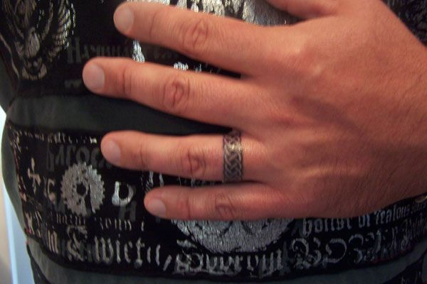 tattoo 25 Fantastic Wedding Band Tattoos ring ideas Pinterest