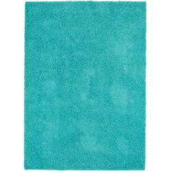 Photo of benuta Essentials Hochflor Shaggyteppich Swirls Türkis 200×290 cm – Langflor Teppich für Wohnzimmerb
