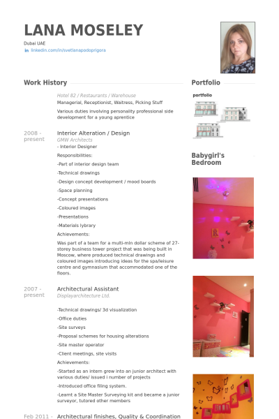 architectural assistant Resume Example | Architect resume ...