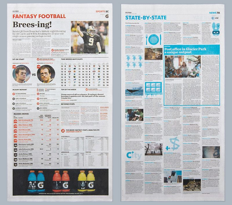 USA Today gets a ballsy redesign Newspaper design