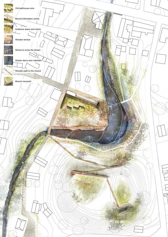 Conceptual drawing landscape architecture google search for Site plan with landscape