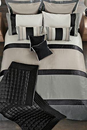 Buy Black Velvet Panel Bed Set from the Next UK online shop