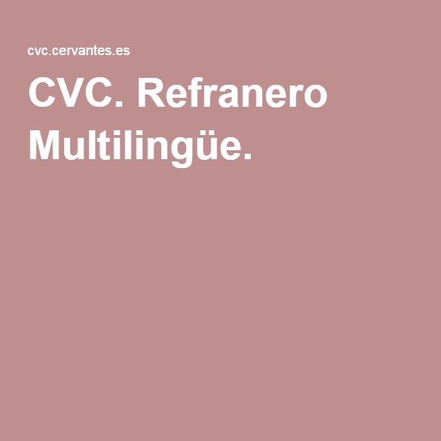 CVC. Refranero Multilingüe.