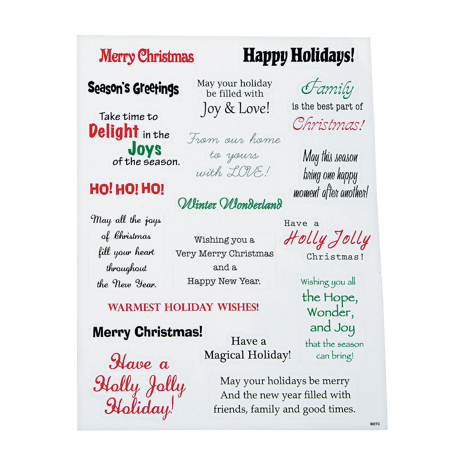 Christmas Card Stickers Orientaltrading Christmas