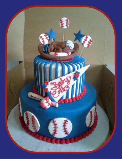 Baseball Baby Shower Cake Sueberry Sueberry Pinterest Shower
