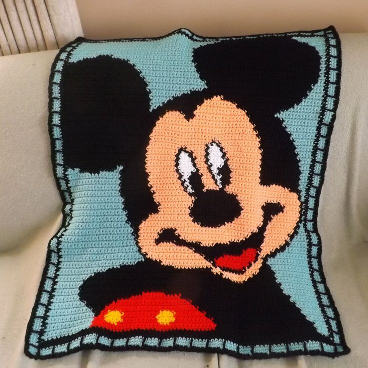 Image result for free mickey mouse crochet blanket patterns ...