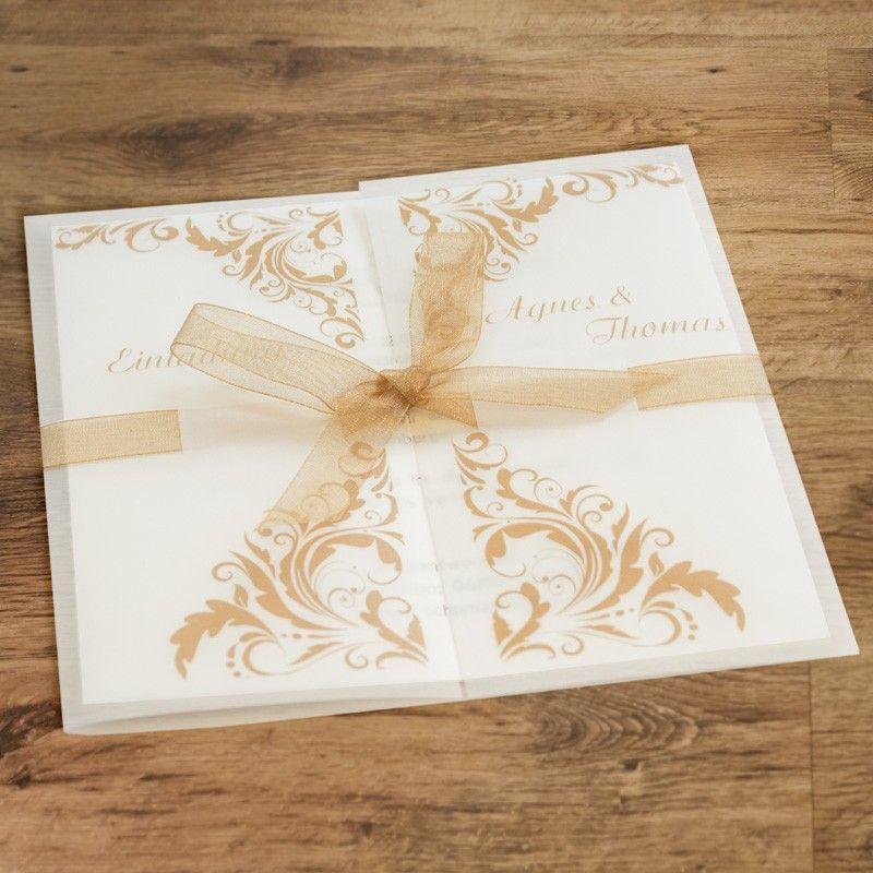 Hochzeitseinladung Kupfer wedding invitation