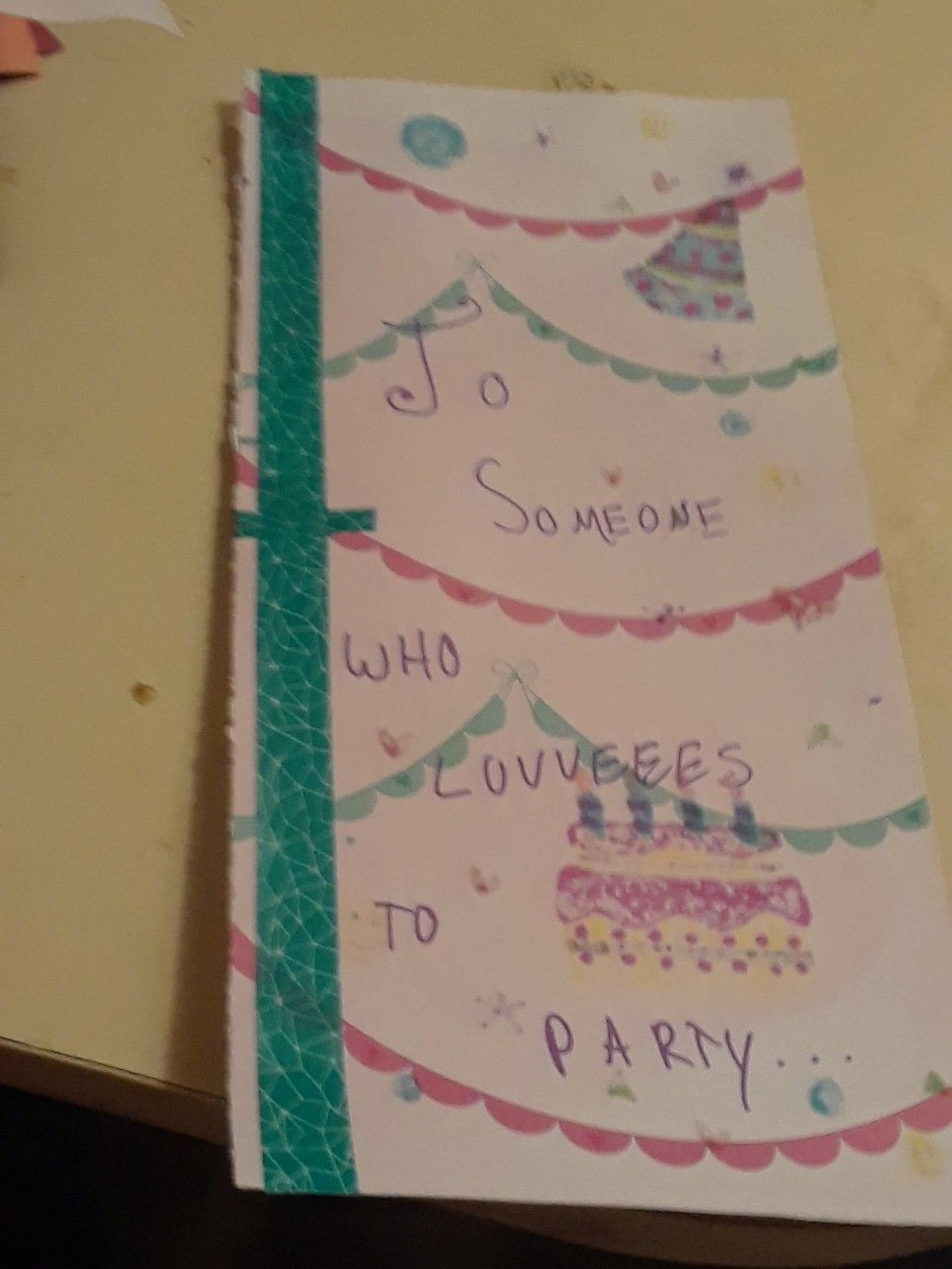 Birthday Card Made For March Of The Blanketeers By A Volunteer
