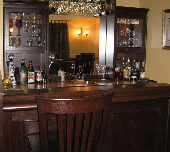 custom oak bar with back unit and bar stools to match stain colour find this pin and more on custom home bars