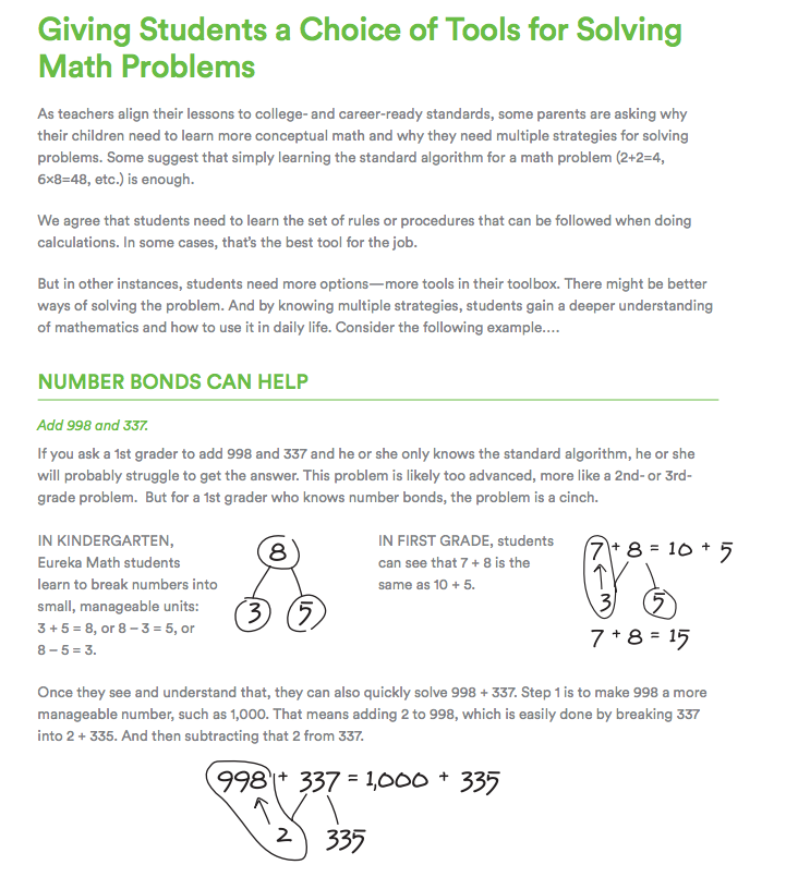 Giving Students a Choice of Tools for Solving Math Problems: Number ...