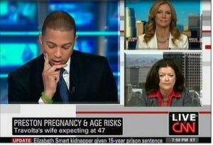 CNN Interview on Kelly Preston's pregnancy at 47, May 2010.