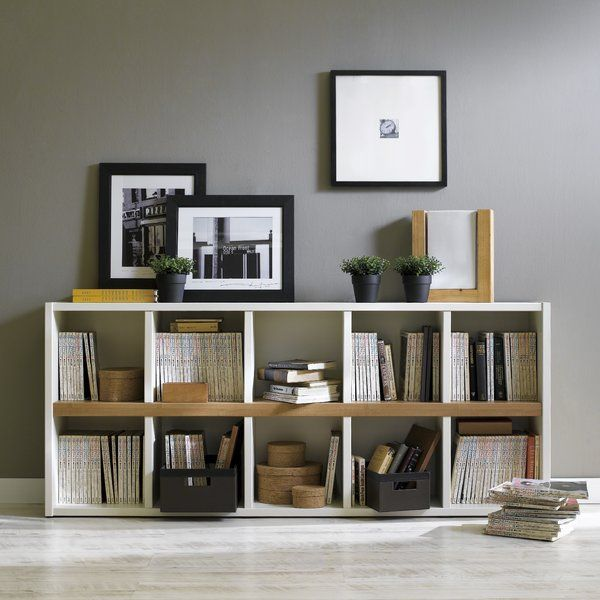 The Two Toned Avery Bookshelf Unit Is A Perfect Addition To Any Home Dorm Room Or Office This 10 Cubed Shelving Low Bookshelves Bookshelf Design Low Bookcase