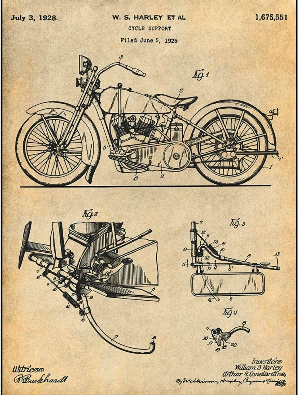 ed626608 Harley Davidson Patent | Whips | Harley davidson posters, Harley ...