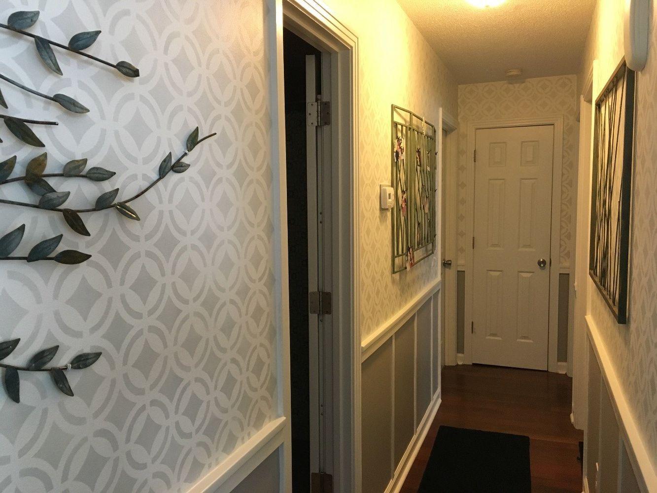 hallway finally. Stenciled Hallway Finally Finished, Wall Decor 0