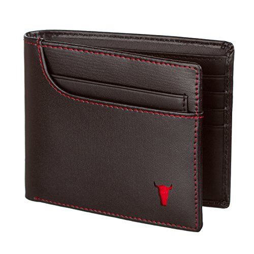 mens leather wallet premium black cowhide leather gents