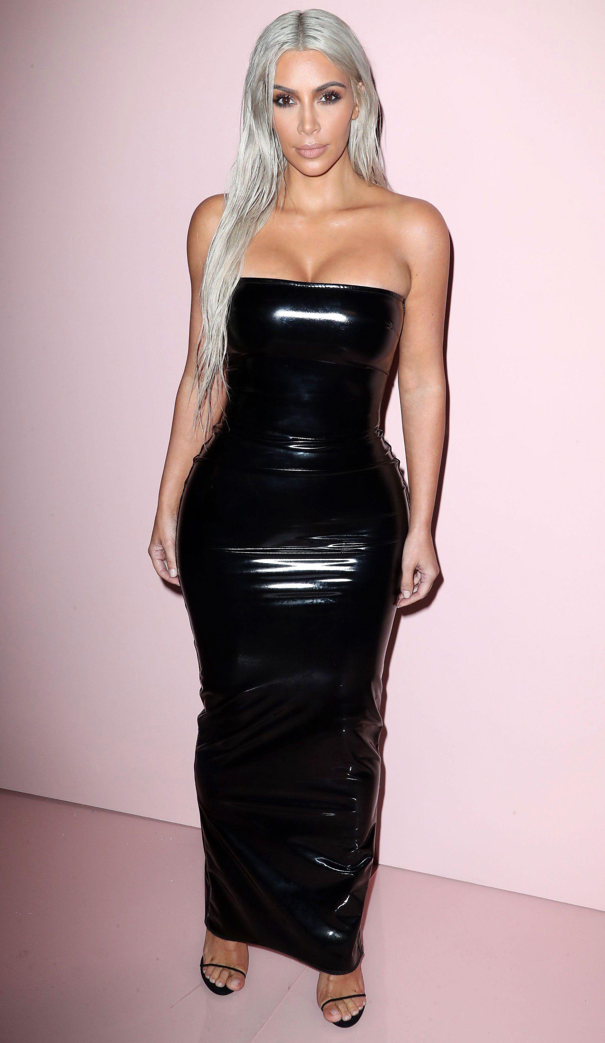 76965bc44f13 Kim Kardashian Makes First Red Carpet Appearance (Sporting Silver ...