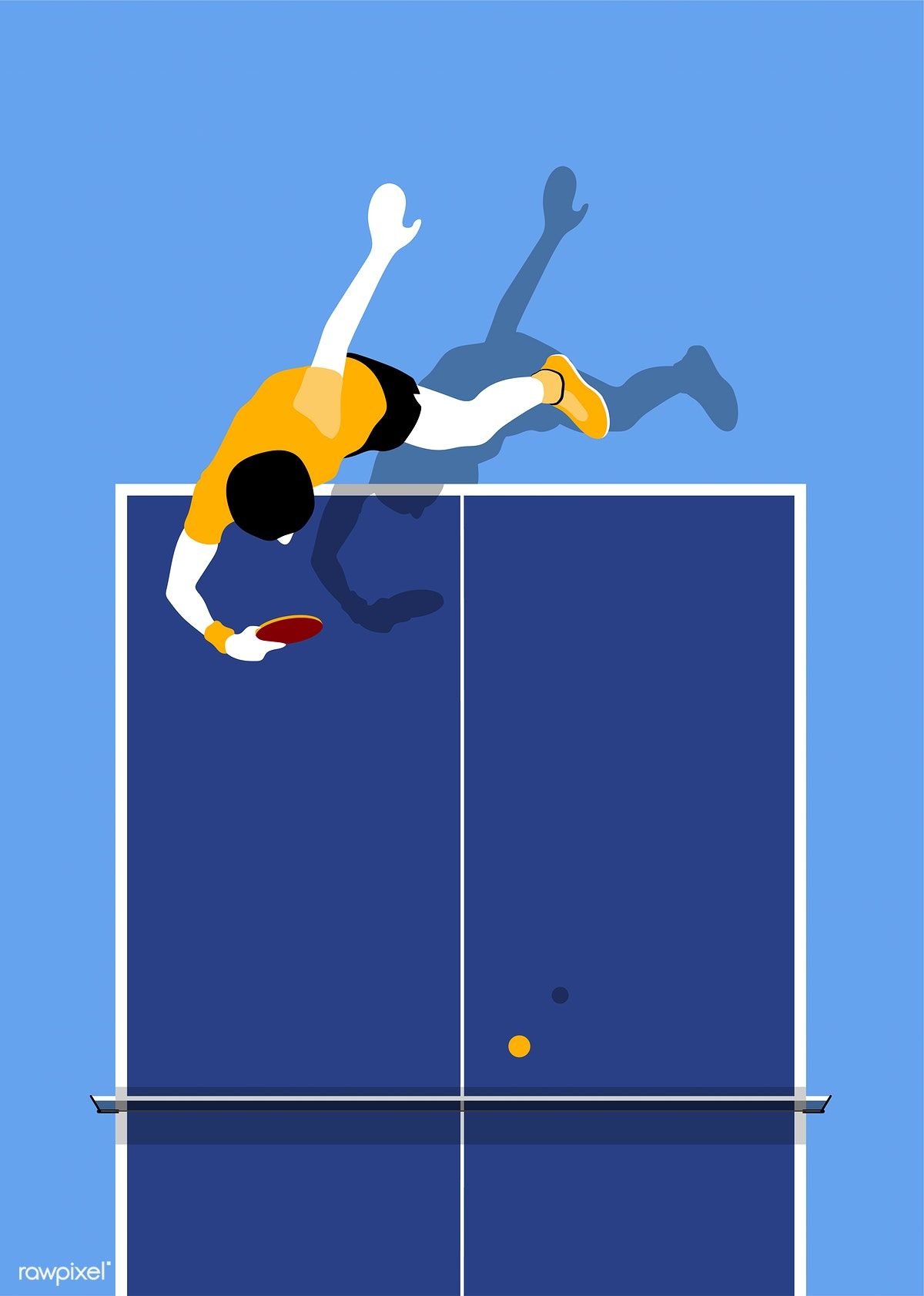 Aerial View Of A Table Tennis Table Free Image By Rawpixel Com Table Tennis Sport Illustration Free Illustrations