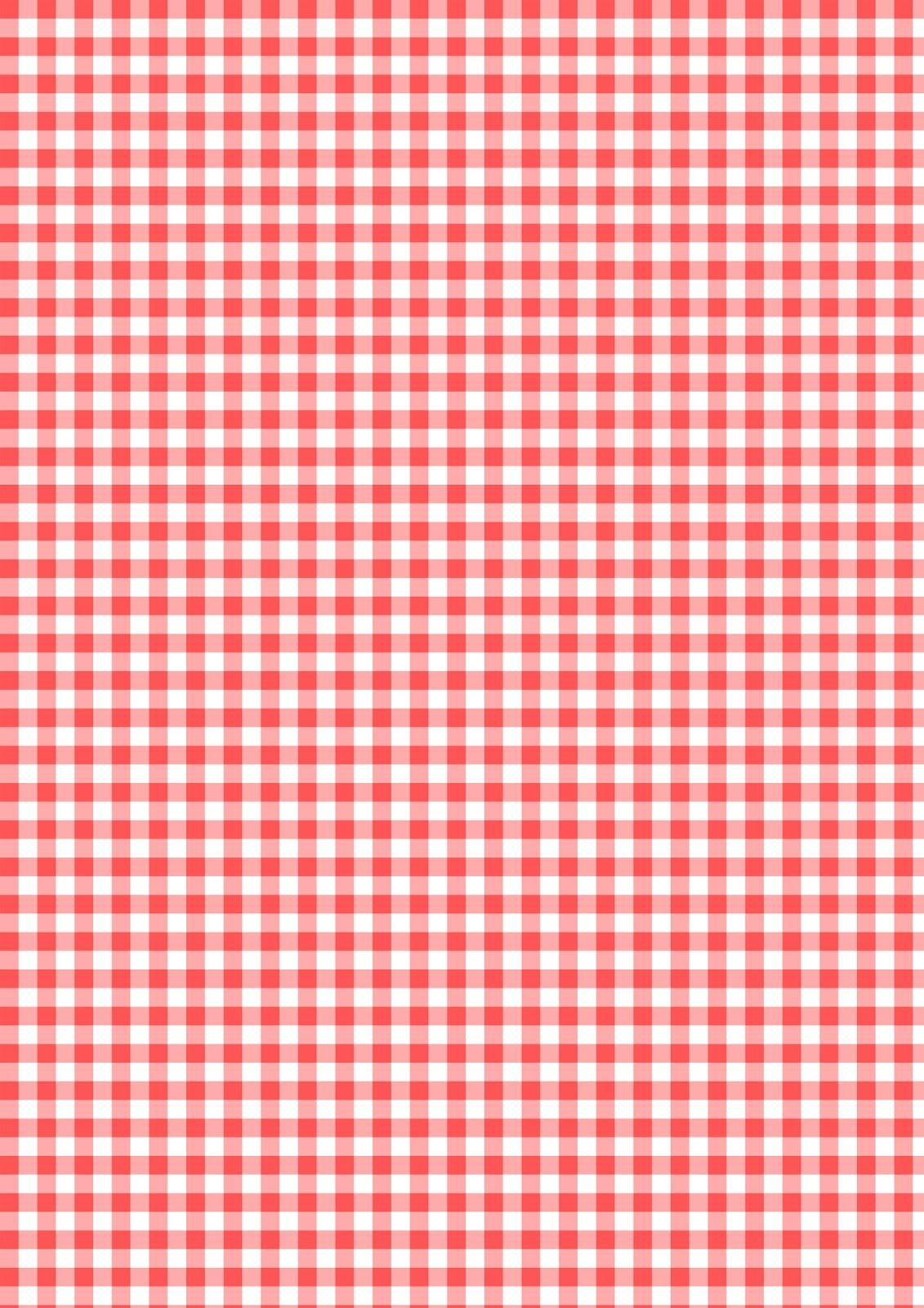 Free printable red and white colored gingham pattern paper