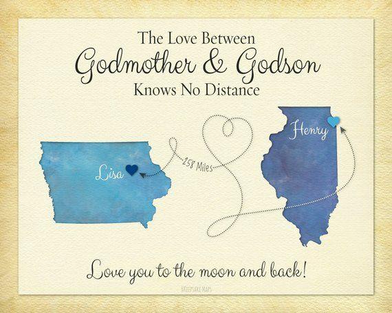 Godmother Gift Godson Long Distance Personalized Birthday Idea Distanc