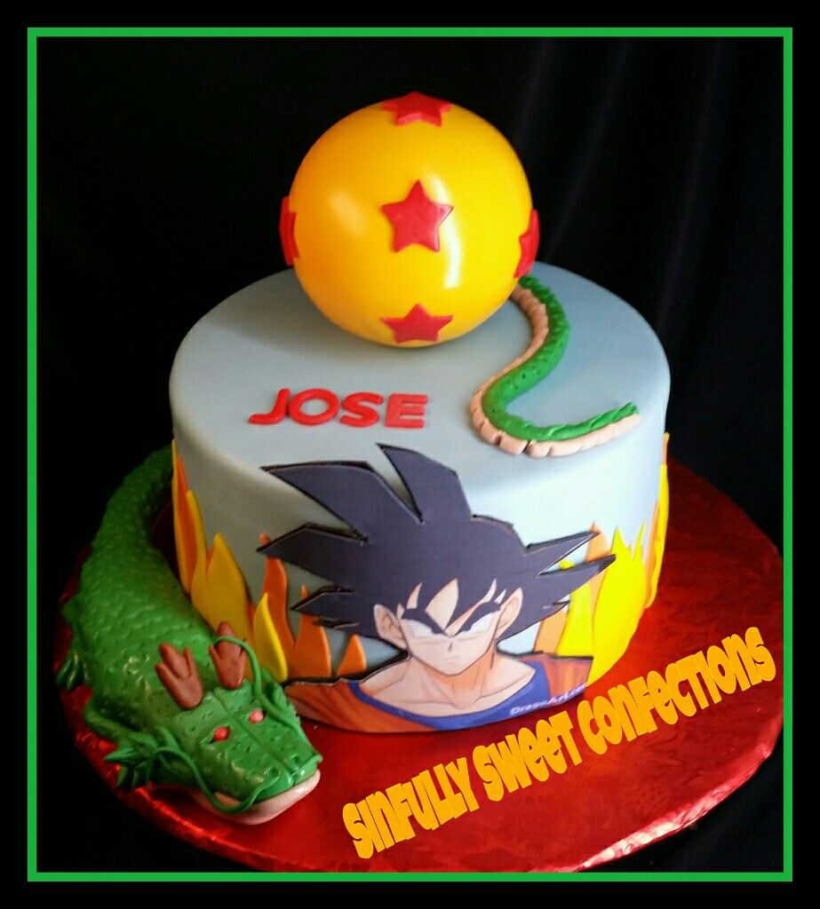 Dragon Ball Z Birthday Cake With Images Goku Birthday