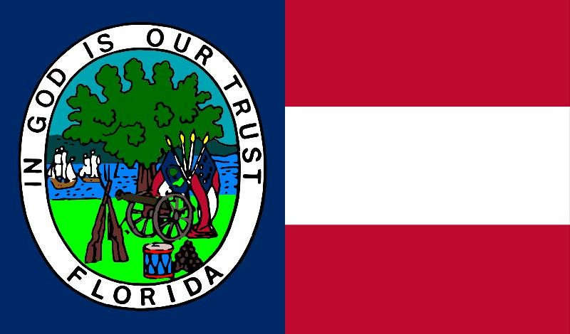 Florida S Flag While Apart Of The Confederate States Of America Florida Flag Confederate States Of America Us States Flags