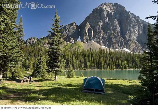 Canada Camping Taylor Lake Banff National Park Alberta