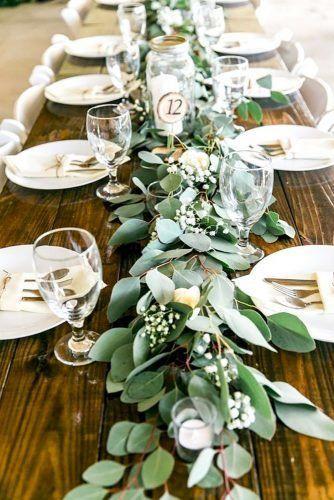 30 idées de décoration de mariage vertes: tendance économique de mariage …   – wedding