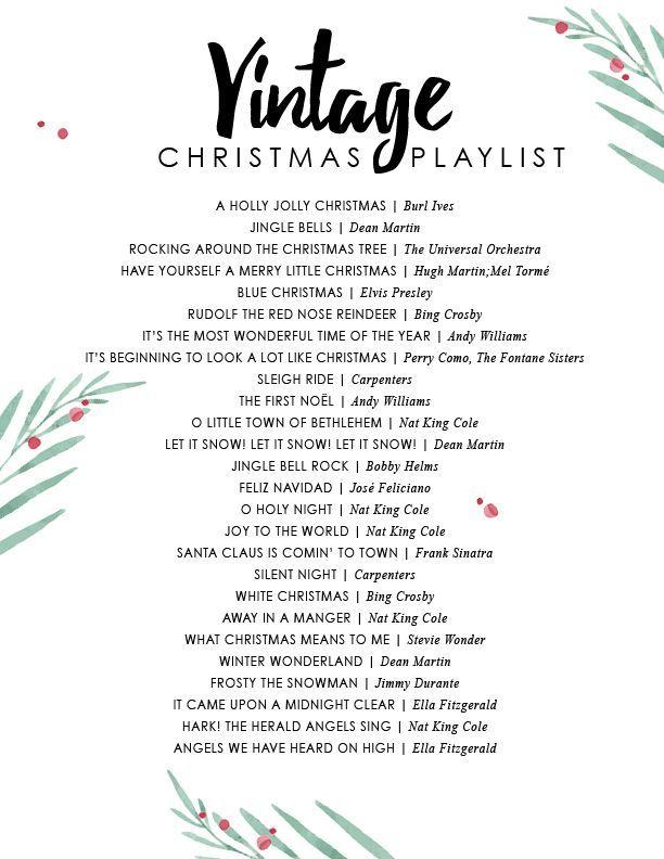 Vintage Christmas music spotify playlist. Ik hou van Kerst!