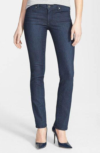 Paige Denim 'Skyline' Straight Leg Jeans (Manchester) (Petite) available at #Nordstrom