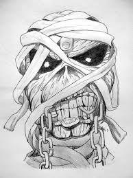 Resultado De Imagem Para Iron Maiden Eddie Draw Dessin Toile