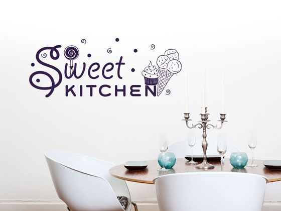Wandtattoo Tattoo #Wandaufkleber Deko für Küche Spruch Sweet - küchen wandtattoo sprüche