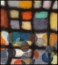 Jenne Giles Felt Paintings: Convivial Series merino wool, alpaca, silk, mixed media