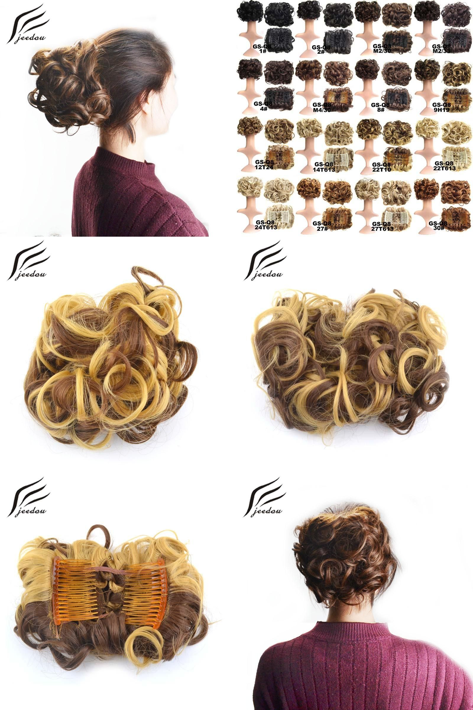 Visit To Buy Jeedou Synthetic Hair Chignon Clip In Hair Extensions